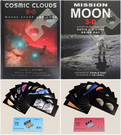 Cosmic Clouds 3-D + Mission Moon 3-D + Astro Cards [Sets 1 + 2] Bundle